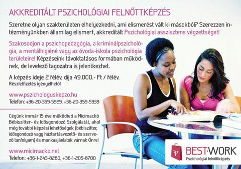 Best-Work szórólap - Pszichológiai képzés, 2010.