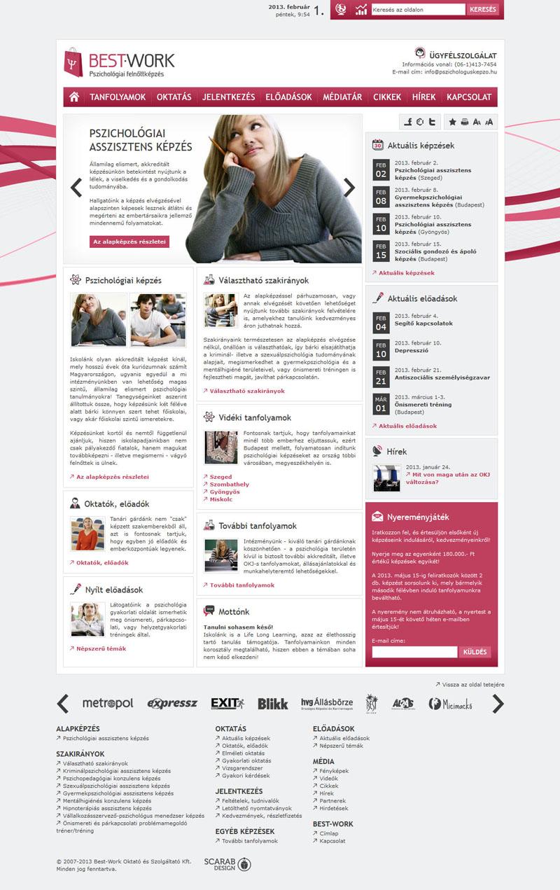 Best-Work weblap, 2011.