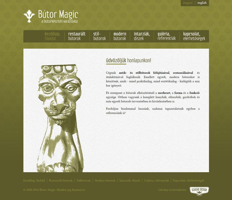 Bútor Magic weblap, 2011.