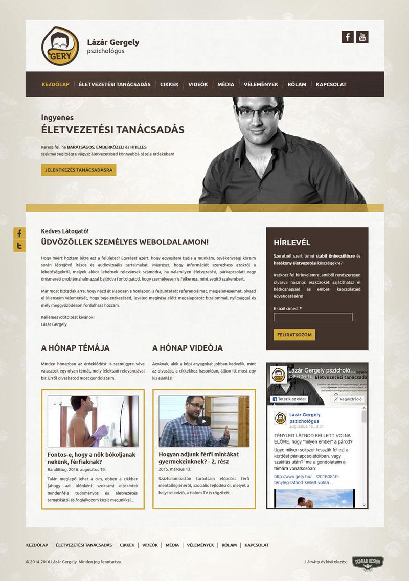 Lázár Gergely weblap, 2015.
