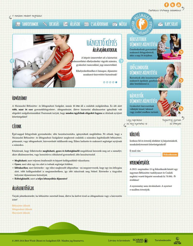 Micimackó Szolgálat weblap, 2014.