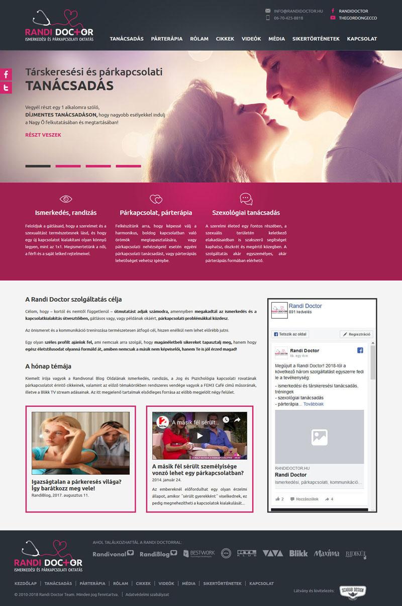 Randi Doctor weblap, 2015.